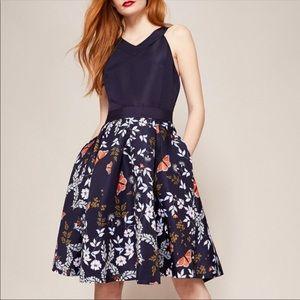 """Ted Baker """"Kyoto"""" Print Full Skirt Dress"""